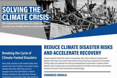Reduce Climate Disaster Risks and Accelerate Recovery