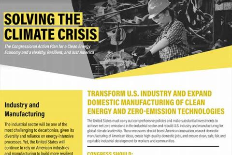 Transform U.S. Industry and Expand Domestic Manufacturing of Clean Energy and Zero-Emission Technologies