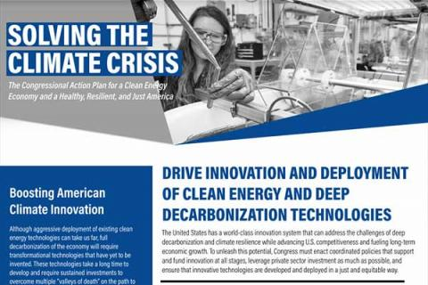 Drive Innovation and Deployment of Clean Energy and Deep Decarbonization Technologies
