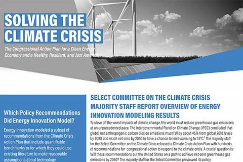 Select Committee on the Climate Crisis Majority Staff Report Overview of Energy Innovation Modeling Results