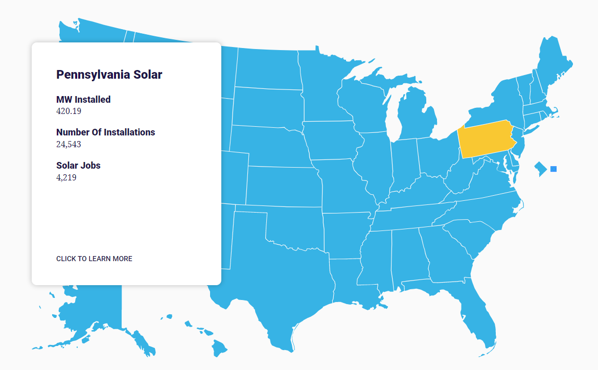 SEIA Solar Jobs Map